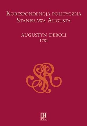 Korespondencja_polityczna_Deboli_1781-okładka