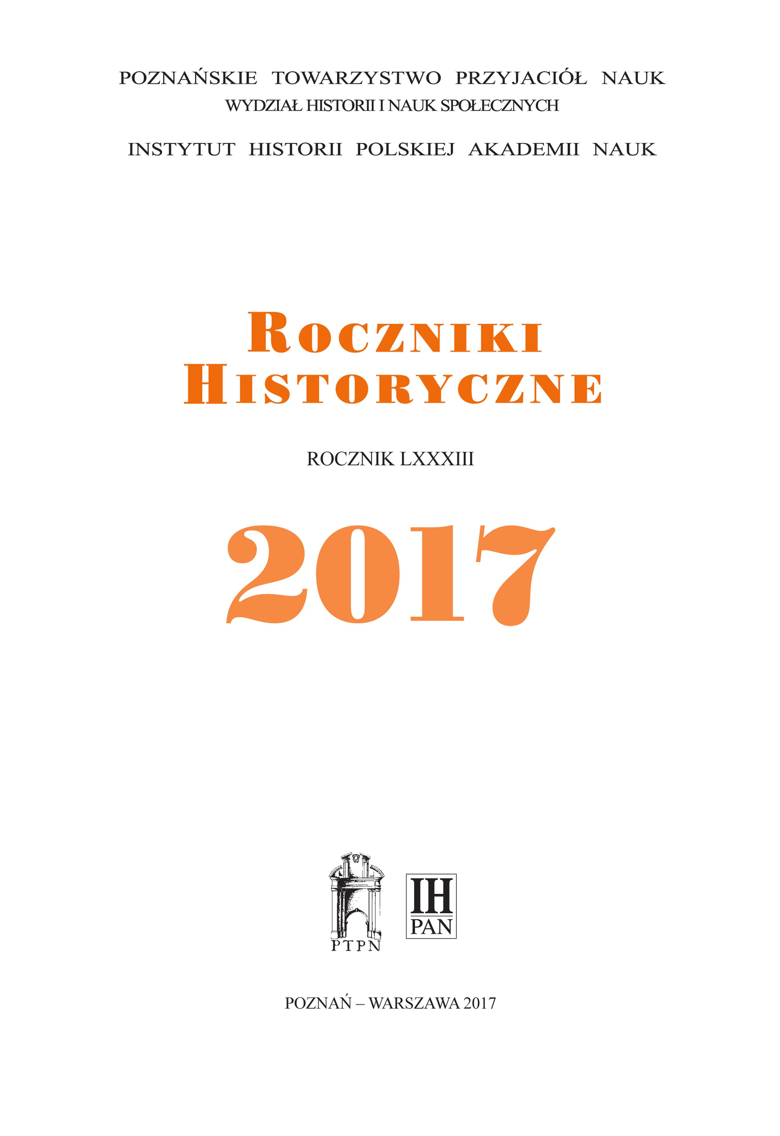 Okladka_Roczniki_Historyczne_2017
