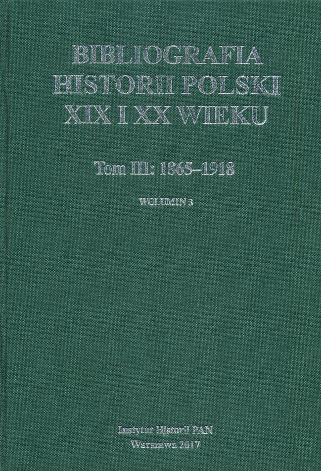 3-Bibliografia Historii Polski XIX-XX